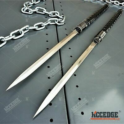"2 IN 1 DOUBLE BLADED 33"" Samurai Ninja SWORD SET Interlocking Japanese Daggers"