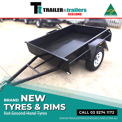 """7x4 BOX TRAILER COMMERCIAL HEAVY DUTY 