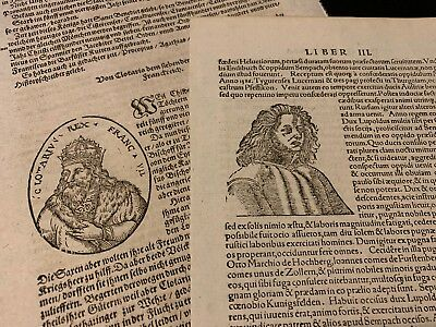 COLLECTION OF TWO ANTIQUE BOOK PAGES 1400s