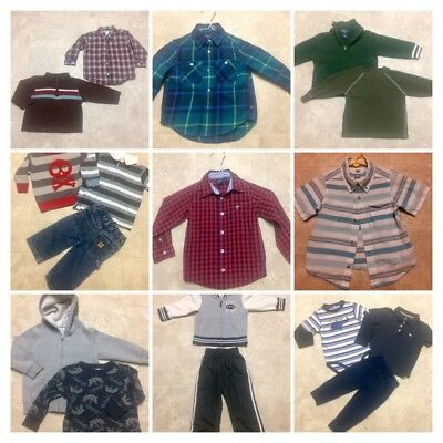 Lot of Toddler Boys 2T 24 Months Fall/ Winter Clothes Clothing NICE!  Name Brand