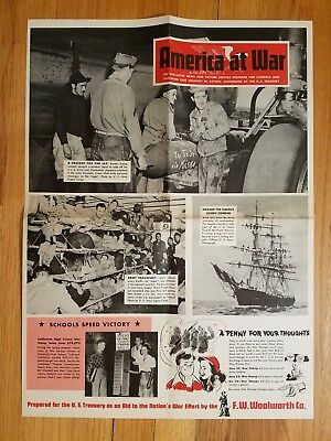 Original WW2 Poster US Treasury Present For The Jap FW Woolworth NO Reserve