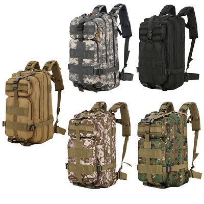 30L Army Tactical Assault Backpack Military Marching Rucksack Hiking Day Pack