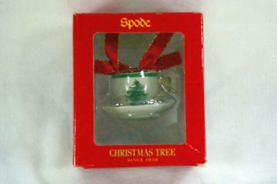 Spode Christmas Tree Round Mini Cup And Saucer Ornament In Box