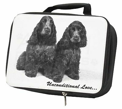 Cocker Spaniel Dogs-With Love Black Insulated School Lunch Box Bag, AD-SC1uLBB