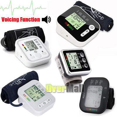 Full Automatic LCD Digital Upper Arm Blood Pressure Monitor w/ Voicing Function