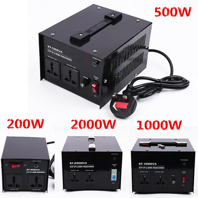 200/500/1000/2000/3000W Step Down High Voltage Transformer Home Power Converter