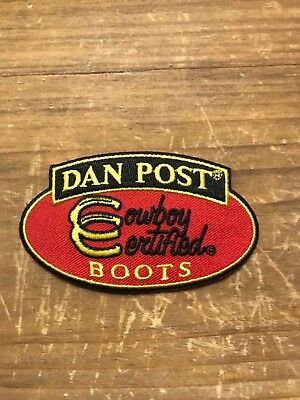 "RARE Dan Post embroidered collectible rodeo patch 3.5""x2"""