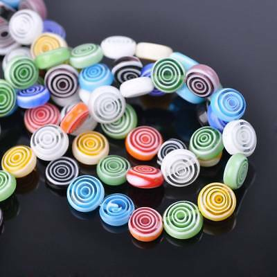 20pcs10mm Round Millefiori Lampwork Glass Loose Spacer Beads Random Mixed