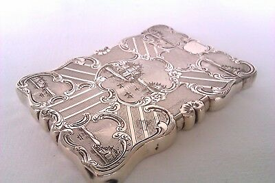 Beautifully Engraved Solid Silver Early Victorian Card Case Edward Smith 1848
