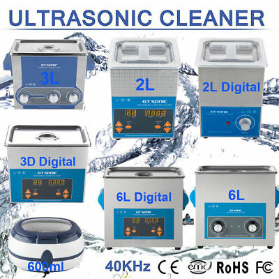 Digital Ultrasonic Cleaner Ultra Sonic Bath Multi Purpose Stainless Timer Heater