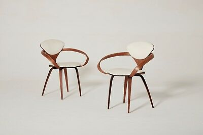 Norman Cherner Pretzel Chairs, made by Plycraft in the USA, 1960s