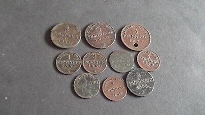 JOB LOT OF OLD GERMAN STATE COINS !!!! FREEPOST !!!! 99p S243