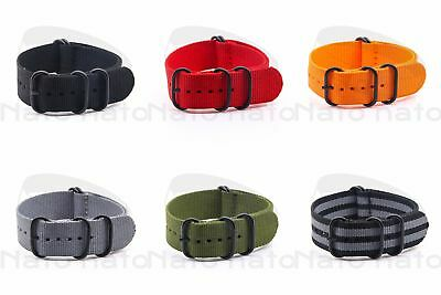Zulu watch Strap 18mm 20mm 22mm 24mm nato strap watch Band Military Army Divers