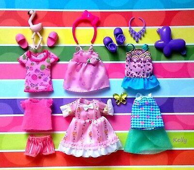 Lot Of Barbie Kelly Doll Clothes Accessories Plus Shoes