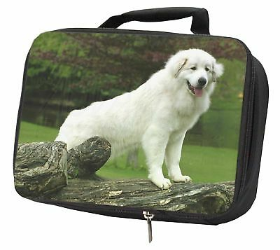 Pyrenean Mountain Dog Black Insulated School Lunch Box Bag, AD-PM1LBB