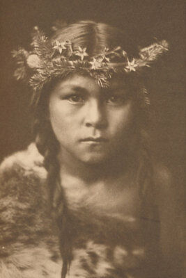 "Edward Curtis First Printing Photos ""Flute of the Gods"" 1909 Native Americana"