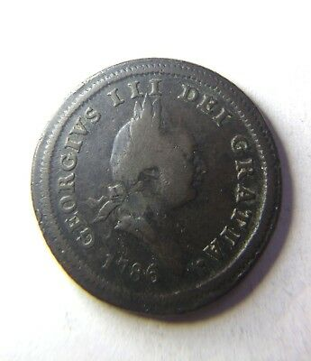George III 1786 Isle of Man halfpenny British Dependency 1/2 penny coin