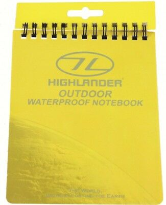 Highlander Outdoor Hiking Waterproof Notebook 15x12cm All Weather Conditions