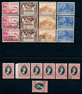 North Borneo 1949&53 Issues Sets Mostly UMM, + F/used S214