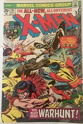 X-Men #95 (Oct. 1975, Marvel). HIGH GRADE VF/NM 9.0. Death of Thunderbird