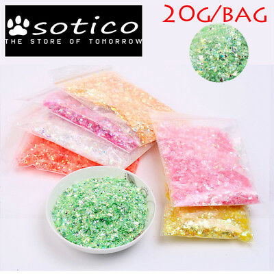 20g/bag fake sprinkles glitter/shinny slime filler clear slime Accessories DIY s