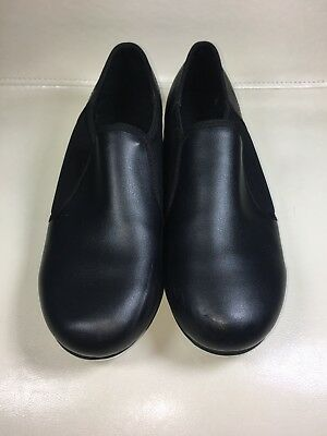 Womens Theatricals Footwear Black Slip On Tap Shoes Style T9100 Size 7 Used