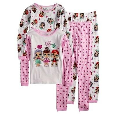 Girls LOL SURPRISE 6 8 10 PAJAMAS One SET Outfit DOLL PRINT PJS L.O.L. ~ NWT