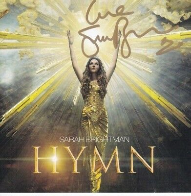 SARAH BRIGHTMAN signed autographed CD booklet insert