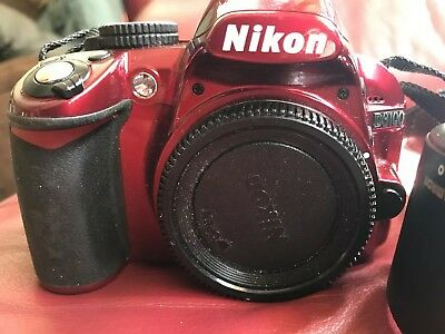 Nikon D3100 14.2MP Dslr ) Red Great Camera Body Only