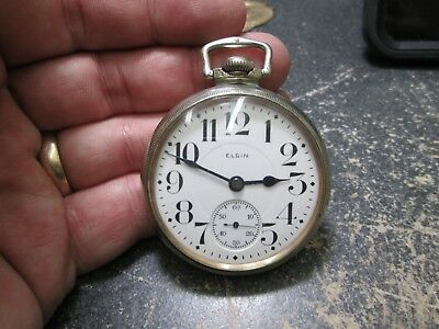 ELGIN FANCY 17J LARGE SIZE RUNNING Pocket Watch