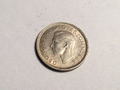GREAT BRITAIN 1942 sixpence small silver coin about uncirculated