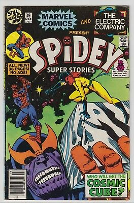 Spidey Super Stories # 39  -Fine 5.5  Early Thanos Cosmic Cube 1979  Hot