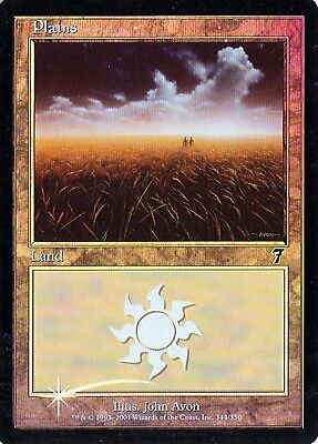 MTG - 7th Edition - Plains #344 - Foil - Various conditions