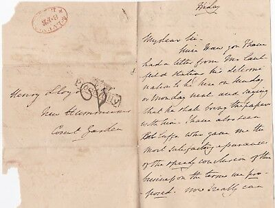 # 1830s TP PICCADILLY PMK LETTER > HENRY LLOYD NEW HUMMUMS A LONDON COFFEE HOUSE