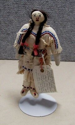 Vintage Blackfoot Indian Doll  6 1/4""