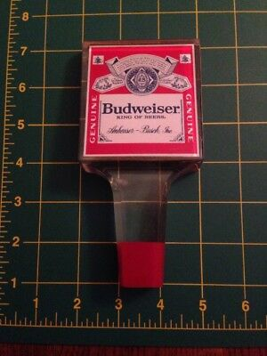 Budweiser King Of Beers Logo Bar Style Acrylic Vintage Beer Tap Handle MANCAVE