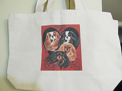 Colors Of The Heart  Cavalier King Charles Spaniel Jumbo Tote Shopping Bag