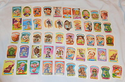 vintage lot of 50 Garbage pail Kids Trading Cards Stickers 1986 Topps