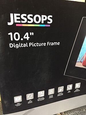 "Jessops Digital Photo Frame - BNWT 10.4"" Screen With Black Surround"