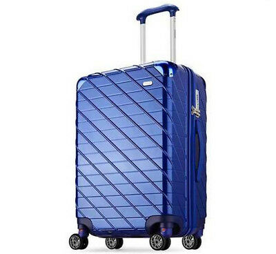 E884 Blue Lock Universal Wheel ABS+PC Travel Suitcase Luggage 20 Inches W