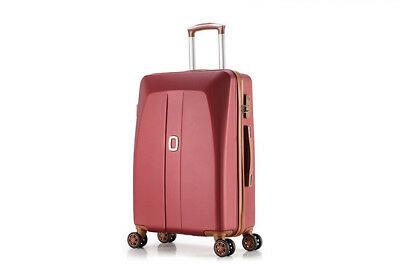 E41 Red Universal Wheel Coded Lock Travel Suitcase Luggage 24 Inches W