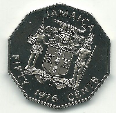 High Grade Proof 1976 Jamaican Fifty Cents Coin-Jun263