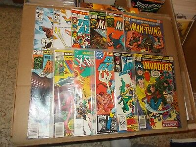 Invaders 10 What If 28Blue Devil 1 Marvel & Dc 1Howard 16 Man-Thing 2,6,10,12 +3