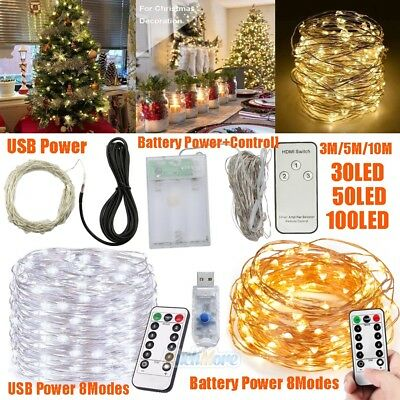 New 3M/5M/10M Copper Wire LED String Fairy Light for Christmas Xmas Party Decor