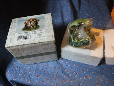 New (Box Wear) Opened for Photos Fitz Floyd Charming Tails Weather Storm Togethe