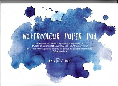 Watercolour Paper Pad - Aquarell Block - A4 20 Seiten 300g/gm2