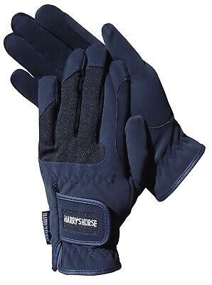 Harry's Horse Domy Suede Gloves - Navy Blue Harry's Horse