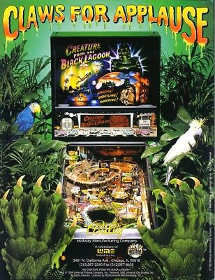 Creature From The Black Lagoon 1992 NOS Pinball Machine Flyer MONSTER Art BALLY