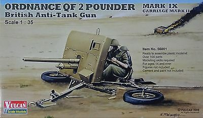 VULCAN MODELS 56001 Ordnance QF 2 Pounder Mk.X Carriage Mk.II Anti-Tank in 1:35