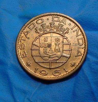 India Portuguese - 10  Centavos   - 1961 -  Choice Unc  -  Km-30 -  # Rdm-635
